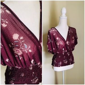 Sheer floral blouse by Liberty Love XL